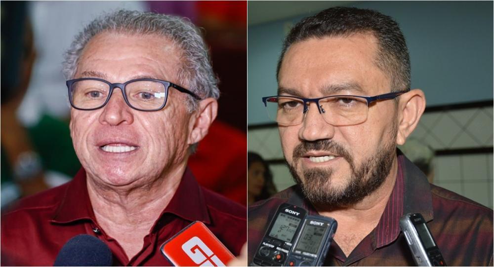 Assis Carvalho e Padre Walmir (Foto: GP1)