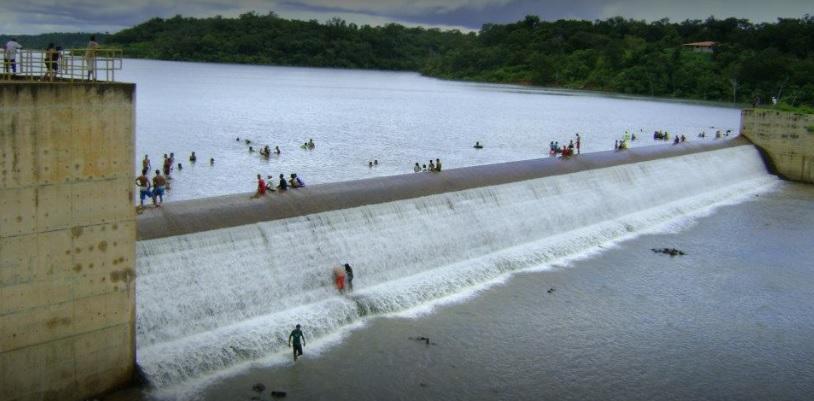 Barragem Salinas Cheia (Foto: Arquivo Oeiras em Foco)