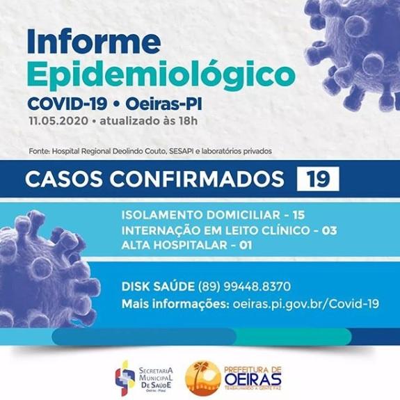 Boletim da Secretaria Municipal de Oeiras (Foto: Divulgação)