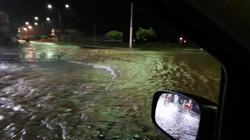 Fortes chuvas em Oeiras