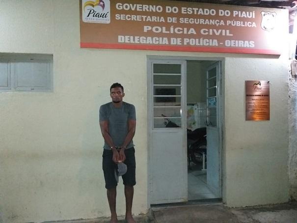 Homem acusado de matar o Idoso (Foto: Polícia Civil)