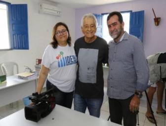 Globo News prepara reportagem sobre a educação da rede municipal (Foto: Ascom/PMO)