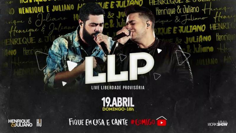 Ao Vivo: Live Henrique & Juliano e um sorteio de R$100