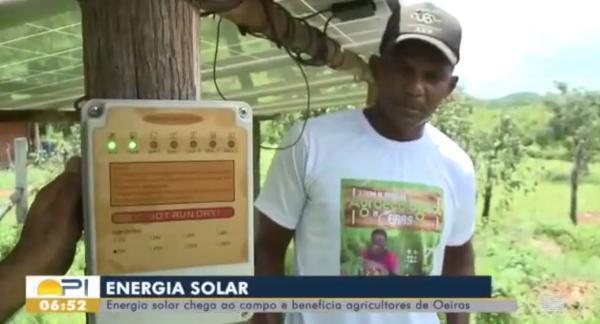 Energia solar beneficia agricultores familiares de Oeiras Piauí