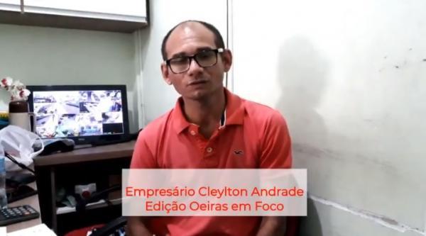 Empresário Cleylton Andrade fala sobre projeto de reforço escolar para nossa redação